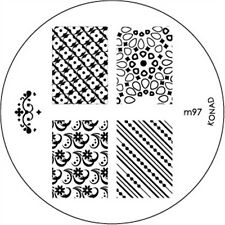 Konad stamping galería de símbolos m97 plate Nails Nail Art Stamp