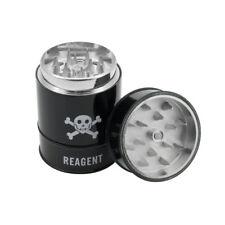 New Zinc Alloy Reagent Poison Skull Barrel Tank Tobacco Herb Grinder (Black)