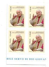 Italia 2011 Beatificazione Giovanni Paolo II quartina