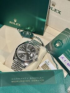Rolex Datejust 41MM Rhodium dial Ref. 126300 Oyster Perpetual Jubilee BRAND NEW!