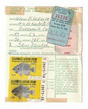 Vintage California Sport Fishing License 1965