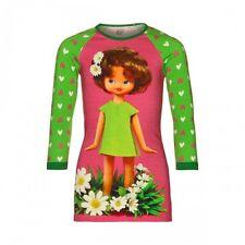 BNWT Mim-Pi Girls Doll Print' Long Sleeve 'Pink & Green' Dress Age 10