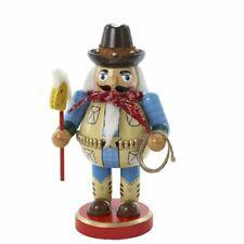 Kurt Adler Chubby Western Cowboy Wooden Nutcracker Christmas Tree Holiday J1409