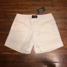Leoni Paige Designer Women's White Denim Additive Shorts Size 6