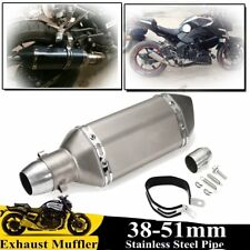 38-51mm Carbon Fiber Universal Motorcycle Slip On Exhaust Muffler Silencer Pipe