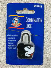 Disney Mickey's World Mickey Mouse Black 2 Number Combination Lock New