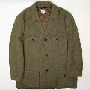Jonathan Richard X J Peterman Mens Tweed XL Half Norfolk Jacket Green Plaid Coat