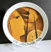 "Rúna Landám Nordic BING & GRONDAHL B&G 1974 Danish Scandinavia Plate 7"" FREE SH"
