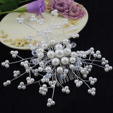 Wedding Bridal Pearl Hairpin Crystal Hairclip Bridesmaid Jewelry Crystal Hairpin