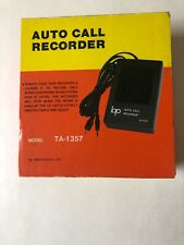 Auto Call Recorder Device TA-1357 Vintage Retro Spy Device Boxed. Made in Taiwan