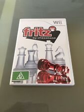 Fritz Chess Chessbase (Wii Nintendo) VGC COMPLETE MINT DISC