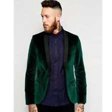 Men's Suits Green Velvet Groom's Suit Party Suit with Custom Made Coat and Pants