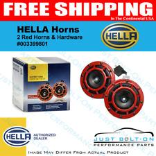 HELLA Red Super Tone Dual Car Horns 12V 118dB Loud Authentic INSTOCK - NO WAIT
