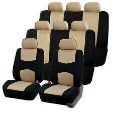 Car Seat Covers for Auto SUV Van Truck 3 Row Beige
