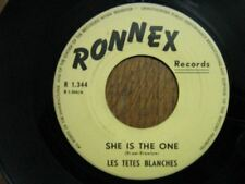 LES TETES BLANCHES 45 TOURS BELGIQUE SHE IS THE ONE