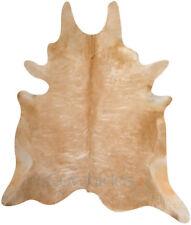 Beige CowHide Rug Cow Genuine Skin Leather Cowhide Area Rug Hair on Hide SALE
