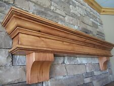 Fireplace Mantel Shelf Knotty Alder With Supports Custom Sized Shelving Crafts
