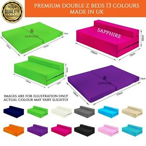 Fold Out Futon Double Guest Cotton Twill Z Bed Chair Folding Mattress Sofa Bed