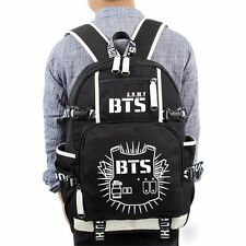 NEU KPOP Bangtan Boys BTS Luminous Bookbag Shoulder Backpack SchoolBag Rucksack#