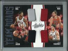 Derrick Rose-Joakim Noah-Gibson-McDermott 15/16 Absolute Game Used Jersey #64/99