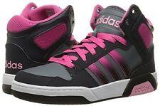 NEW adidas Performance Girls' Mid K Sneaker - Onix/Pink/Black - Size: 4