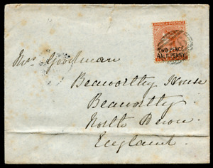 "JAMAICA: (10049) overprint/""A76"" numeral cancel/cover"