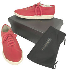 NEW Donna Karan Collection Sneakers (Shoes)! 8.5 Red Canvas* *Vintage Style*