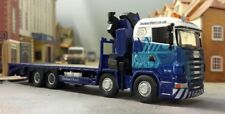 Stobart Rail Scania Highline R420 Crane Hiab Low Loader Flatbed 8x4 1:76 OO/00