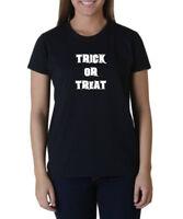 Ladies Trick Or Treat T-Shirt Halloween Costume Tee Spooky Humor T shirt