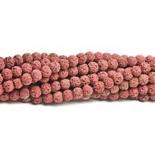 Lava Rock Stone Round Beads 10mm Burgundy 35+ Pcs Dyed  Gemstones DIY Jewellery