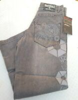 Southpole Logo Geometric Gray Grey Sand Jeans Mens Size 29x30 RN 82628