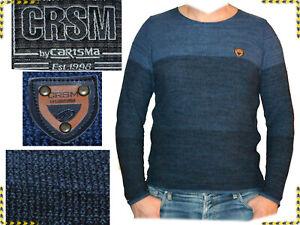 Carisma Hole Pullover Uomo Estate-Pullover Tempo Libero-Pullover Marrone finemente lavorato a maglia