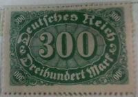 Germany 1922-23 Stamp 300 Mark MNH Stamp Rare Antique Excellent StampBook1-125