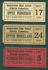 1954 Quakertown(PA) High School Football Game Tickets