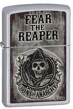 Zippo 28502 sons of anarchy fear the reaper satin chrome full size Lighter
