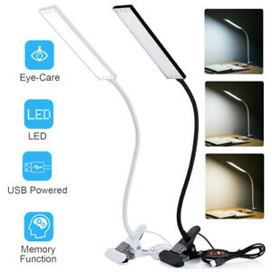 48LED USB Charger Led Desk Lamp Dimmable Memory Bed Night Read Study Desk Light