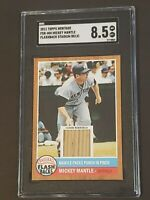 2011 Topps Heritage FSR-MM Flashback Stadium Relic Mickey Mantle SGC 8.5