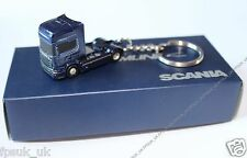 Genuine Scania Blue Truck New Streamline V8 Euro6 Diecast Metal Keyring New BNIB
