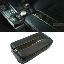 Sports Carbon Line Armrest Console Cushion White For Car Vehicle Accessories