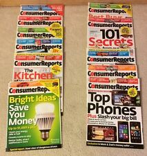 CONSUMER REPORTS-- THE YEAR 2013 - ELEVEN (11) ISSUES - EXCELLENT CONDITION