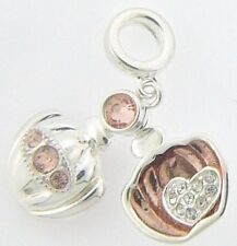 2025-1325 CHAMILIA STER SIL ROSE GOLD PLATED LOVE POTION LOCKET CZ CHARM NEW