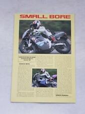 Informe de prueba de carretera motocicleta Suzuki RG125F diciembre 1994 #MB278 reimpresión
