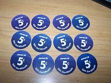 4th Print Set 5 Cent AAFES  Pogs 2004 printing  AU. Military Tokens