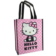 HELLO KITTY SHOPPING PICCOLA ECO Sacchetto per la vita Tote Bag CARRY Rosa Bianco Pois
