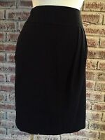 Apt. 9 Women's Skirt Black With Faux Wrap Front Stretch Size 6