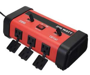200W Car Power Inverter 2 USB 3 Outlet DC 12V to AC 110V Power Converter