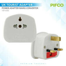 EU To UK 3 Pin Tourist Travel Plug Power Adapter Mains Converter 13A Fused