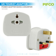 US EU To UK 3 Pin Tourist Travel Plug Power Adapter Mains Converter 13A Fused