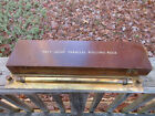 Vintage WWII British Navy Brass Parallel Rolling Rule &box Maritime Naval 106100