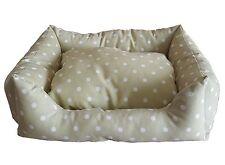 Cama,sofá,cojín para los animales,perros,gatos, beis lunares blanco,small